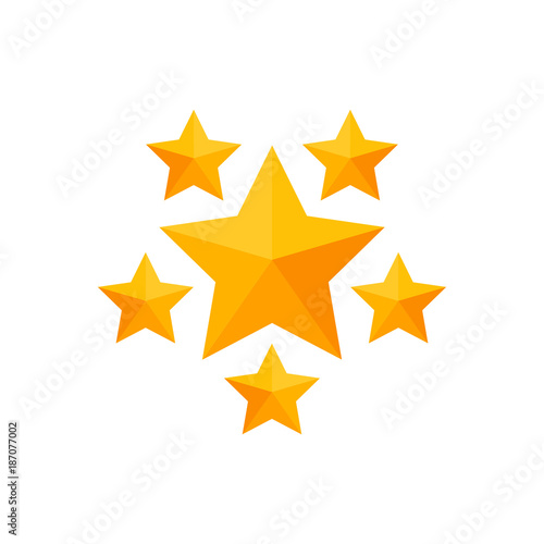 Simple Business Vector Icon Of Stars Symbol Design Template Gold