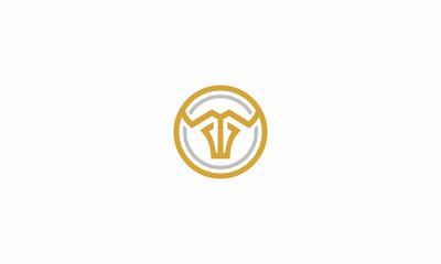 buffalo, bull, horn, G, emblem symbol icon vector logo