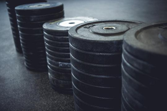 Weights arranged