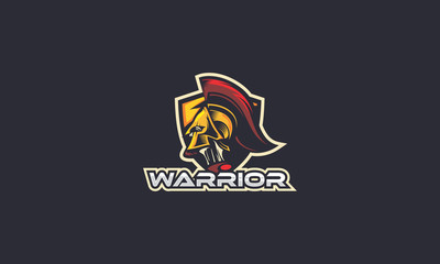 spartan, soldier, warrior, sport, emblem symbol icon vector logo, esport