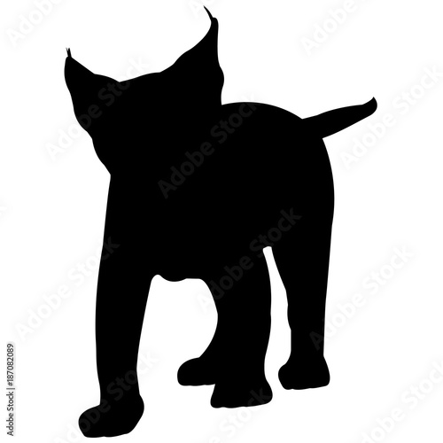lynx silhouette vector graphics stock image and royalty free vector