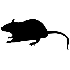 Rat Silhouette Vector Graphics