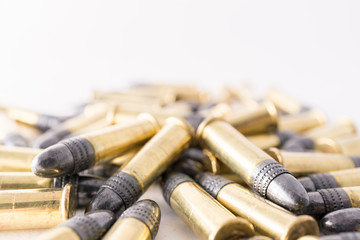 22 bullet pile