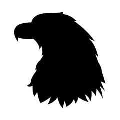 eagle head vector illustration  black silhouette profile