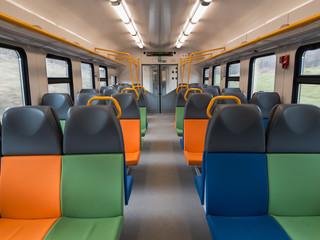 Interior of a modern passenger wagon
