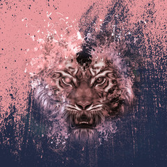 абстрактная голова тигра
