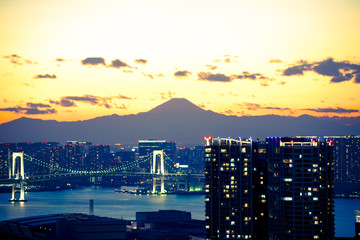 Cityscape view of Tokyo Japan