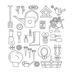 Romantic Garden Icon set