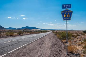 Foto auf AluDibond Route 66 Route 66 USA.