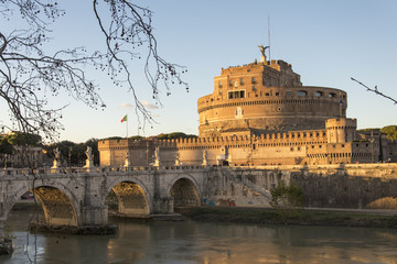 beautiful Rome at Christmas time