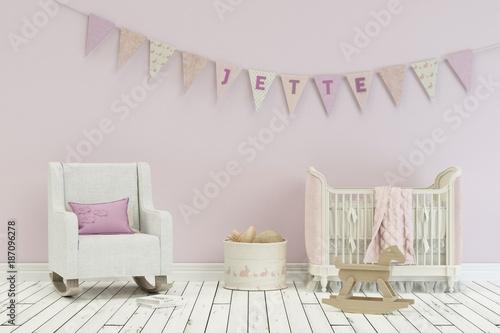 Kinderzimmer Jette | Kinderzimmer Mit Wimpelgirlande Name Jette Stockfotos Und