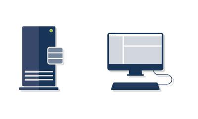 Datenbank Datenbankserver Client Vektor Flat Design