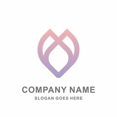 Geometric Clover Flowers Motif Pattern Beauty Cosmetic Aromatherapy Fashion Business Company Stock Vector Logo Design Template