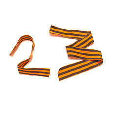 February, Day of the Soviet Army and Navy. Defender of the Fatherland Day and Figure 23 of the st george ribbons, isolated