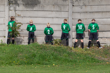 pause at a children's football
