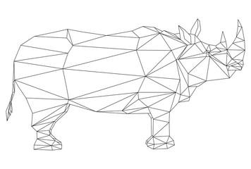 animal geometric isolatet on background