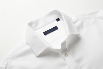 White shirt collar