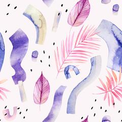 Printed kitchen splashbacks Watercolor Nature Abstract creative background. Modern watercolor illustration