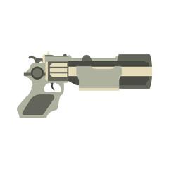 Gun futuristic vector laser illustration