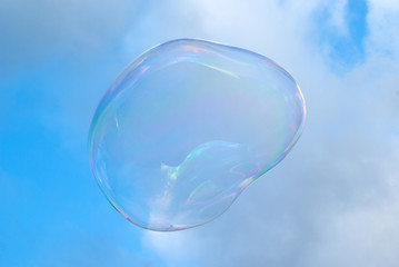 Soap bubble in sky