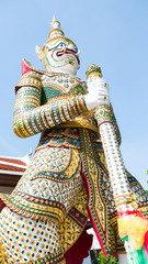 A giant statue of Thai literature.
