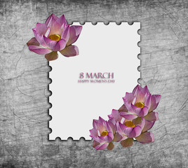 March 8, women's day, world, greeting cards.