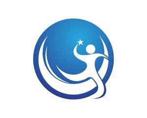 Success people logo design template