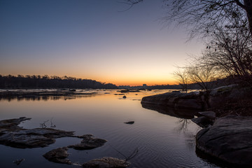 Cold Sunrise at the River
