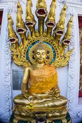 Buddha Statue with Naga Nine Heads cover Nakprok Temple