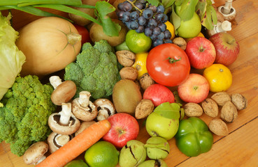 Many fruits and vegetables