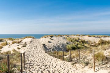 CAP FERRET (Bassin d'Arcachon, France), accès à la plage des Dunes