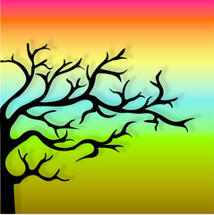 Sunset Tree sihouette