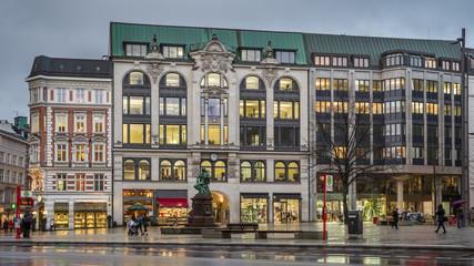 Einzelhandel am Gänsemarkt in Hamburg