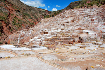Salt Ponds in Maras, Urubamba province near Cuzco, Peru