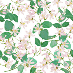 Seamless pattern with honeysuckle 4