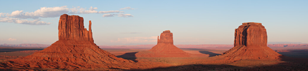 Monument Valley Glowing Red Rocks at Sunset