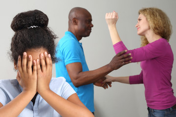 the parents in the family conflict out of the relationship with the teenage daughter