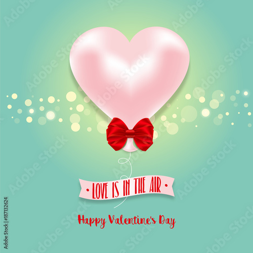 Valentines Day card with hearts Stock image and royaltyfree
