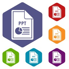 File PPT icons set