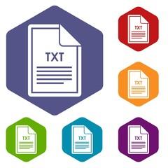 File TXT icons set