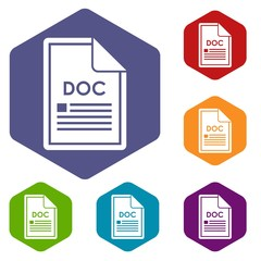 File DOC icons set