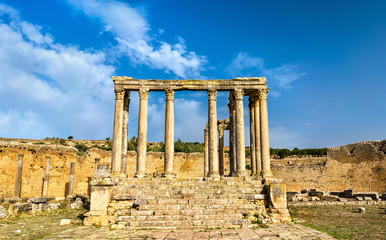 Temple of Juno Caelestis at Dougga, an ancient Roman town in Tunisia