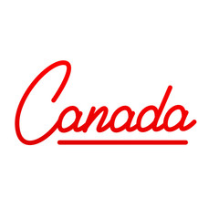 Canada. Text Lettering Design Canada