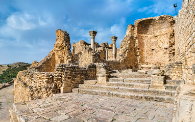 The Baths of Licinius at Dougga. UNESCO heritage site in Tunisia