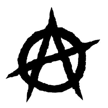 Anarchy symbol black
