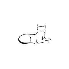 simple cat line art