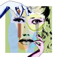 Plakat retro w stylu pop-artu.