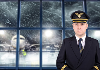 bad captain is waiting for the weather to improve