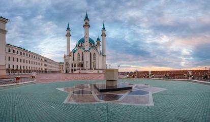 Kul Sharif mosque in Kazan Kremlin summer early morning