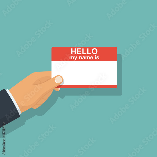 Hello My Name Is Template For Presentation Personal Identify Card